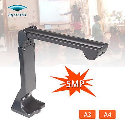 S600 High-Speed A3 A4 A5 Document Photo Book ID Video Cam 24 Bit 5MP Scanner