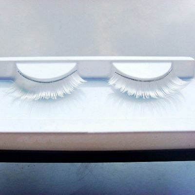 Stage Fancy Dance Thick Lash Makeup Long White False Eyelashes Fake Eyelashes - White Eyelashes