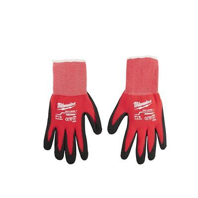 Xl Winter Work Gloves Milwaukee Latex Dipped Cut 1 Resistant X Large Glove Red