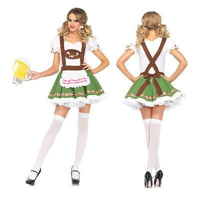 Sexy German Beer Girl Costume Bar Maid Bavarian Wench Fancy Dress Oktoberfest (Beer Girl Dress)