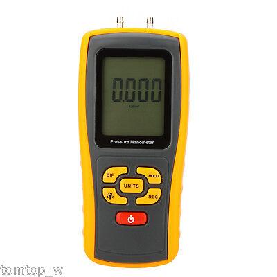 Usb Digital Manometer Differential Air Pressure Gauge 10kpa Data Record