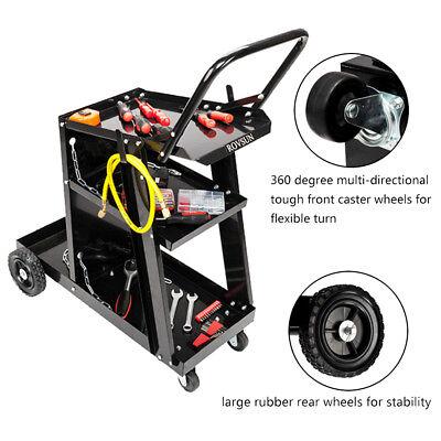 3 Tiers Welding Welder Cart Plasma Cutter Tank Storag Mig Tig Arc New