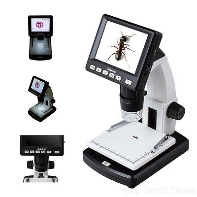 Portable Lcd Digital Microscope Science Lab Equipment Zoom 5mp Sensor New