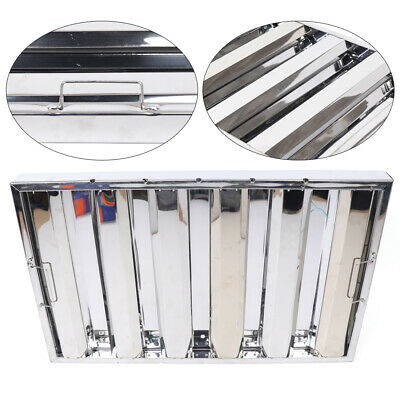 6pcs Commercial Kitchen Stainless Steel Exhaust Hood Vent Baffle Grease Filter