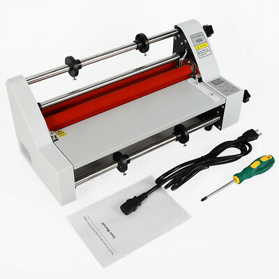 Digital Control 13 Thermal Hot Cold Roll Laminator Laminating Machine 110v Ups