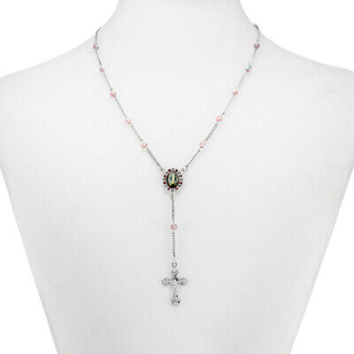 Amethyst Crystal Beads Rosary Necklace
