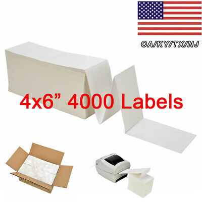 4x6 Fanfold Direct Thermal Shipping Labels For Zebra Elton 2844 Rollo Printer
