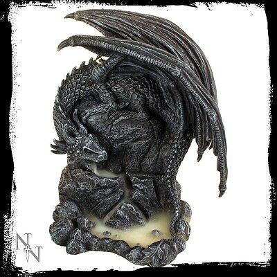 Nemesis Now Dragon Pool Mountain Backflow Incense Tower Burner Ornament Gothic