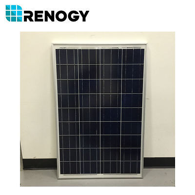 Open Box 100 Watts 12V Renogy Poly Solar Panel for RV Boat Camping Final Sale