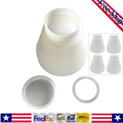 4pcs Bottles Hopper Cup For Powder Coating System Sprayer Paint Pc02pc03 White