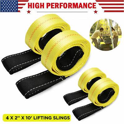 2 X 10 Ft Nylon Polyester Web Lifting Sling Tow Strap 4 Pack Eye Eye Straps