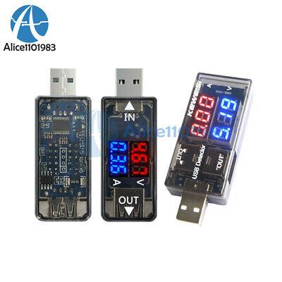 Digital Dual Led Usb Current Voltage Meter Voltmeter Power 5v Detector Ammeter