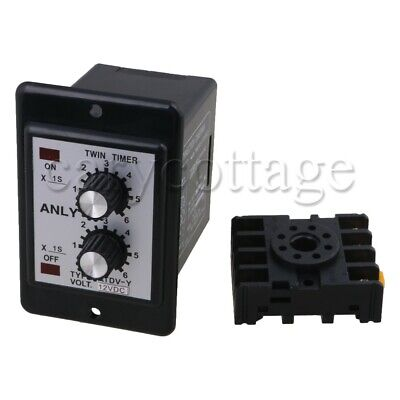 Dc 12v Delay Timer 0-6s Repeat Cycle Time Relay Switch Loop Module Atdv-y
