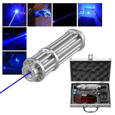 U`King High Power 445nm Focusing Blue Beam Laser Pointer Pen Burn Match 5MW+Box