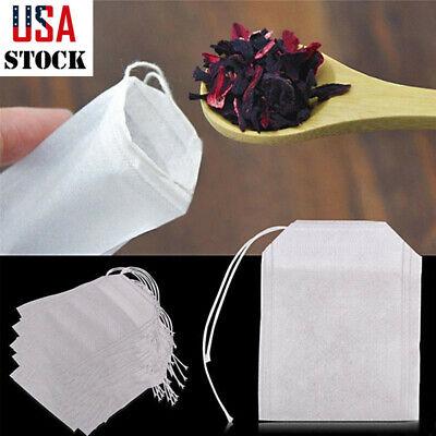 100Pcs Non-woven Tea bag Filter Empty Teabags Herb Loose Tea Bag 5.5*7cm USA