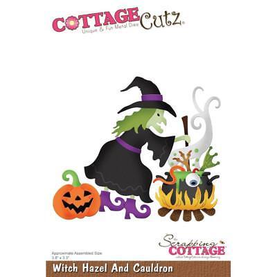 Halloween Witch Cauldron Die Craft Steel Die Cutting Dies CottageCutz CC-532 New