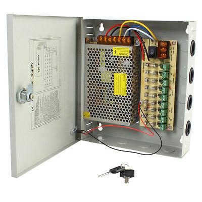 New 9CH Port DC12V Camera Power Supply Distribution Box for CCTV Security Camera