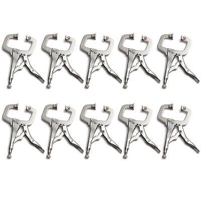 10pcs 6 inch Vise Grip C Clamp Locking Adjustable Welding Pliers Hand -