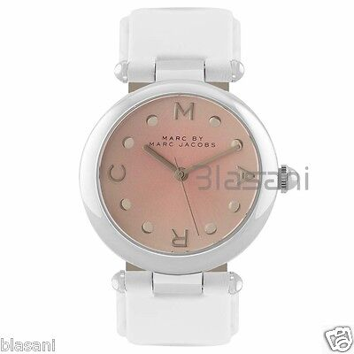 Marc by Marc Jacobs Original MJ1407 Dotty Women's White Leather Strap Watch