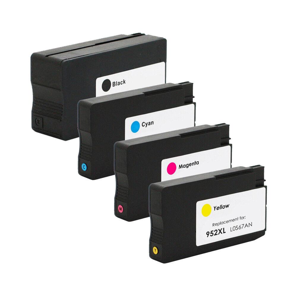4Pk Ink Cartridge 952XL for HP OfficeJet Pro 7720 8210 8710