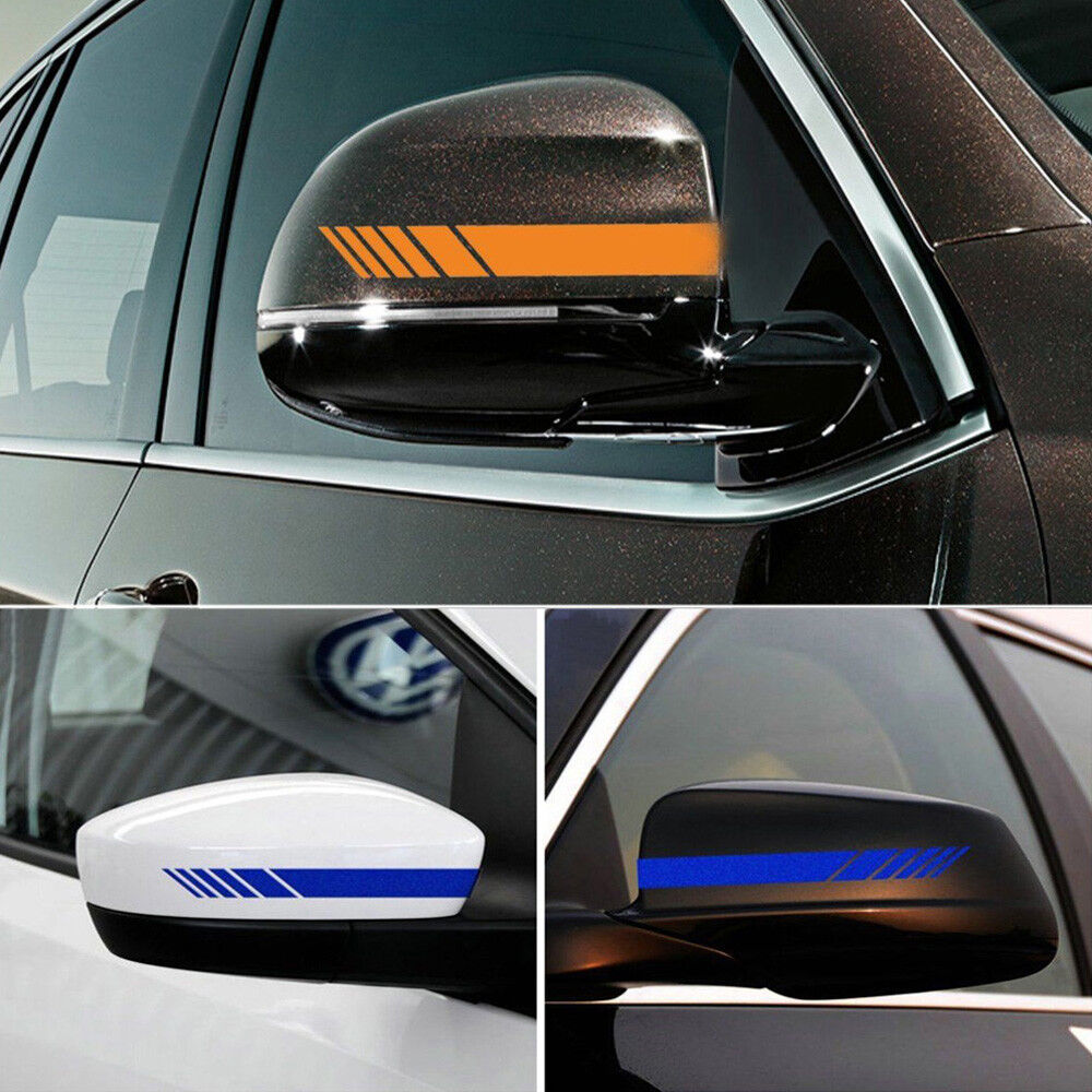 Vinyl Car Window : Pcs auto vinyl racing stripe rearview mirror car window