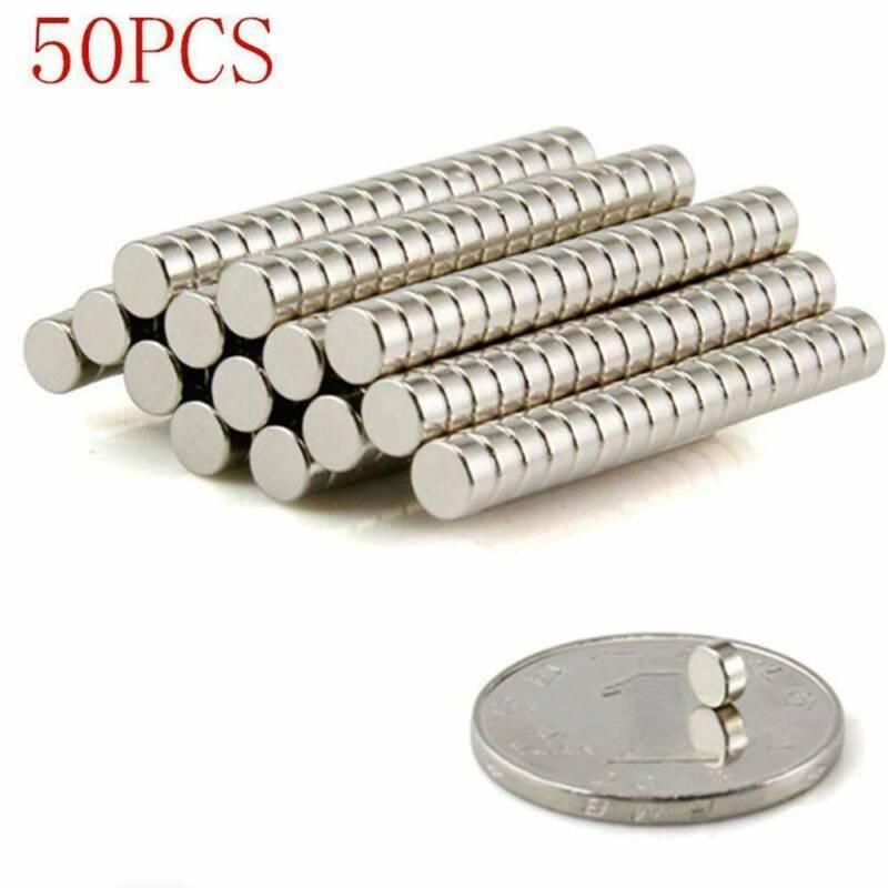 50Pcs Magnets Rare Disc 4x2mm.