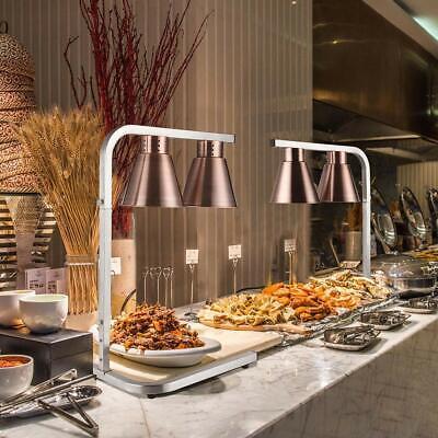 Safety Food Warmer Light Heated Restaurant Buffet Home Stand Lamp Height Adjust