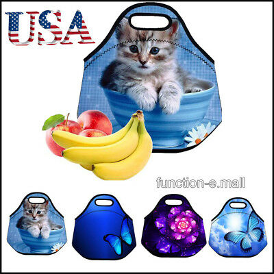 Fashion Lunch Bag for Kids Girls Insulated Neoprene Cooler L
