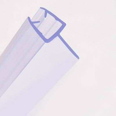 Bath Shower Screen Door Seal Strip   Glass Thickness 4mm - 6mm   1M Length