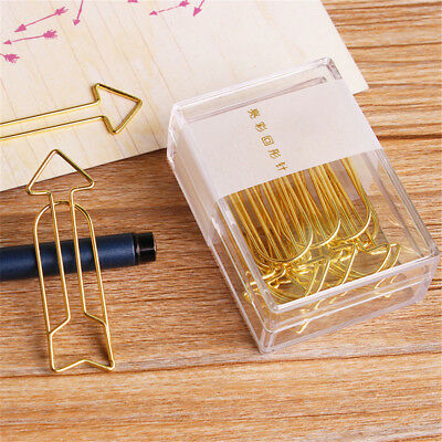 Arrow Shape Design Paper Clips Hollow Out Notebook Metal Binders Letter Clamps