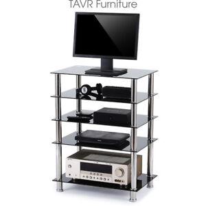Audio Component Rack AV Tower Media Stereo Stand Electronics Equipment  Shelves