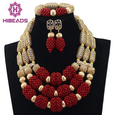 2017 fashion african coral beads jewelry set for nigerian wedding bridal...