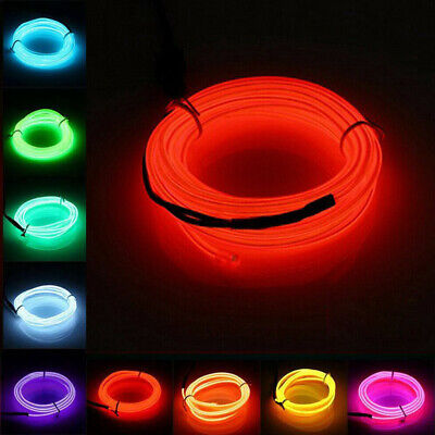 Neon Dance Decorations (EL Wire LED Neon Light Flexible Light Strip Rope Tube Lamp Dance Party Car)