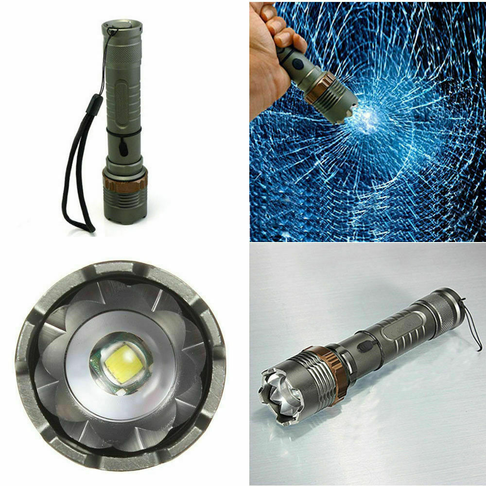 Tactical Police T6 900000LM LED Zoomable Flashlight Torch Rechargeable Lamp USA  5