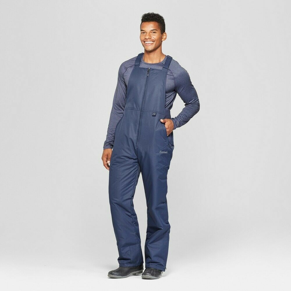 Zermatt Men's Snow Pants Blue Night Bib Overalls Size Medium Insulated NEW Clothing