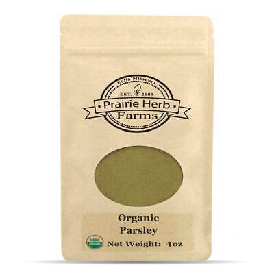 Prairie Herb Farms - Certified Organic Parsley Leaf - Powder - Seasoning 4oz Parsley Leaf Powder