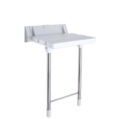 (320mm(w) x 330mm(d) Luxury Shower Seat With Stainless Steel Legs)