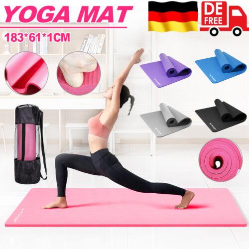 Pilates Yogamatte Fitnessmatte Gymnastikmatte Sportmatte Matte Yoga 183*61*1CM