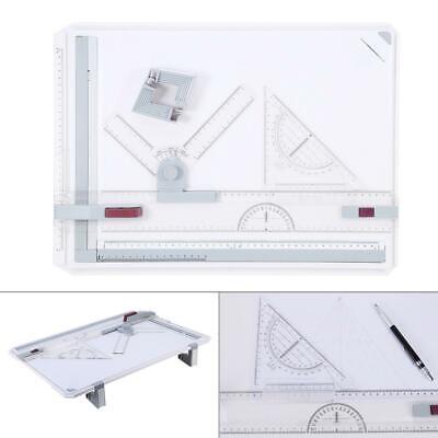 Pro A3 Drafting Drawing Board Ruler Table Tool Set Adjustable Angle USA