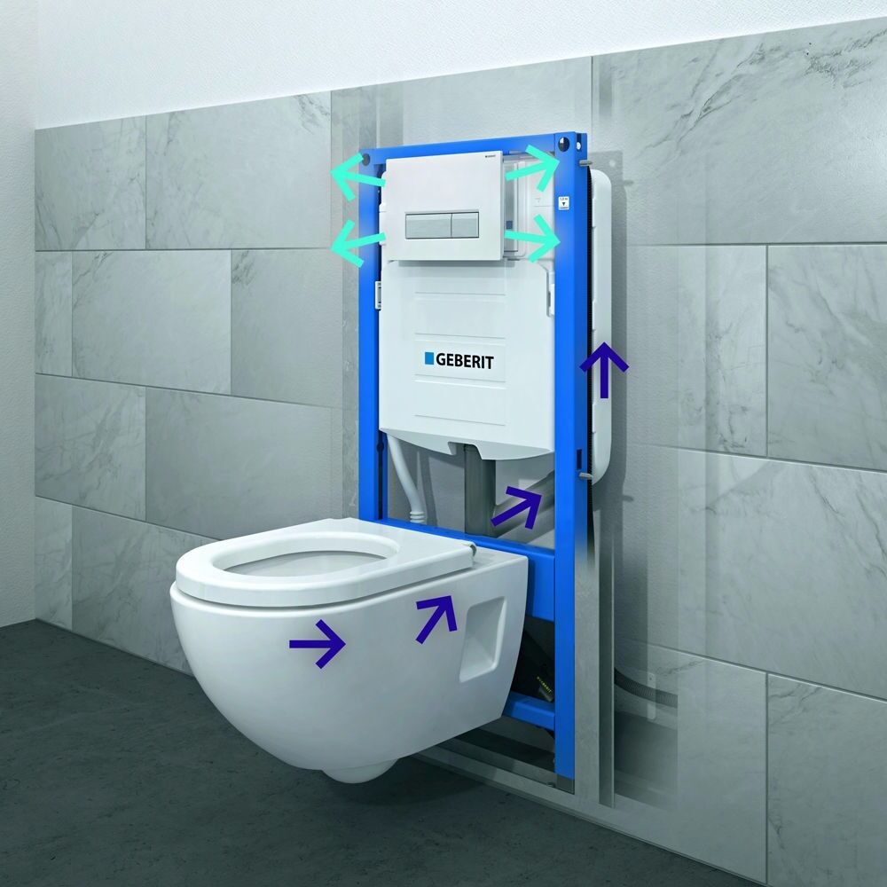 Geberit duofix frame for wall hung wc h82 with omega cistern 12cm - Geberit Omega Concealed Toilet Frame Wc H82 Geberit Duofix 111 003 00 1