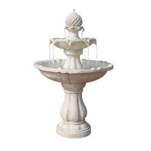 Solar Power Three-Tier Water Fountain Ivory North Melbourne Melbourne City Preview