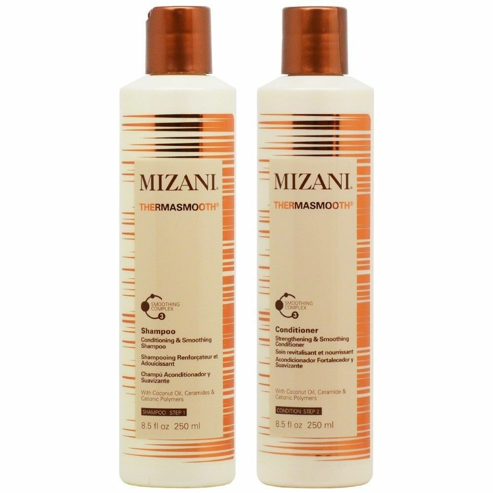 Mizani Thermasmooth Shampoo and Conditioner 8.5oz SET Hair Care & Styling