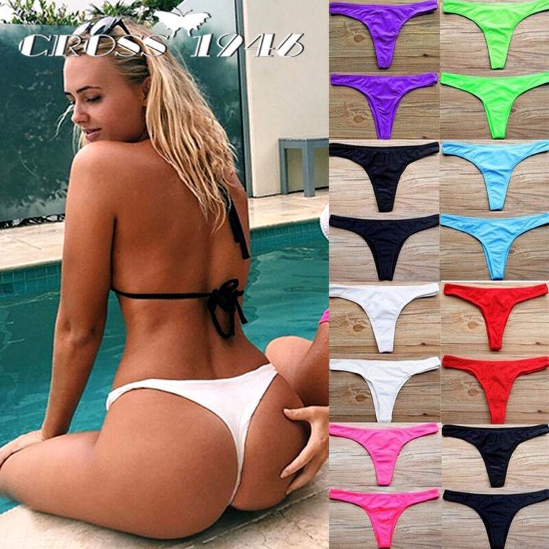 Sexy Women Brazilian Cheeky Micro Bikini Bottom Bandage Swim