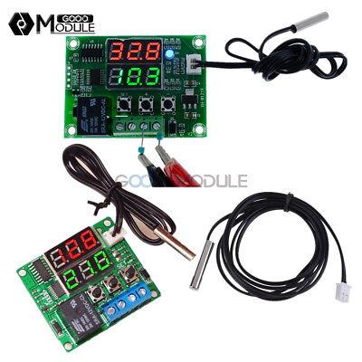 Dc 12v5v Digital Dual Led Timer Temperature Controller Thermostat Relay Module
