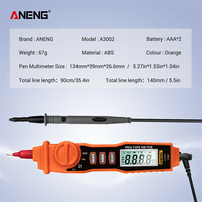 Aneng A3002 Multi-function Digital Multimeter Pen Type Dc Ac Voltage Tester Tool