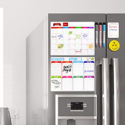 Magnetic Dry Erase Whiteboard Calendar For Fridge Monthly Weekly Planner