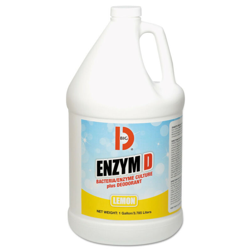 Big D Industries Enzym D Digester Liquid Deodorant, Lemon, 1gal, 4/ctn 1500 NEW