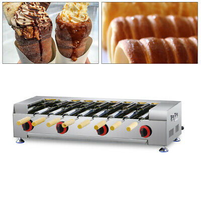 Commercial Lpg Gas Cake Oven Roll Grill Machine Bread Rolling Maker 8pcs Roller