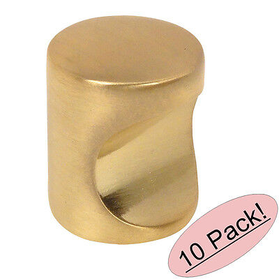 (*10 Pack* Cosmas Cabinet Hardware Brushed Brass Contemporary Finger Pull #3312BB)