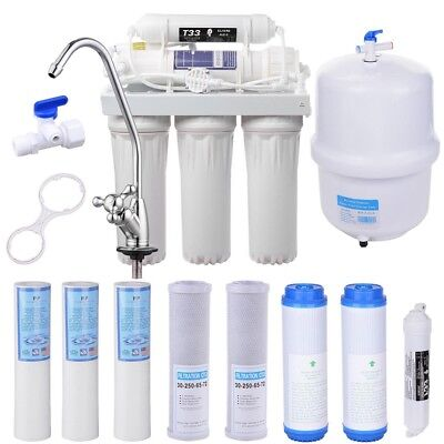 5 Stage Reverse Osmosis Drinking Water System RO Home Purifier 13 TOTAL FILTERS